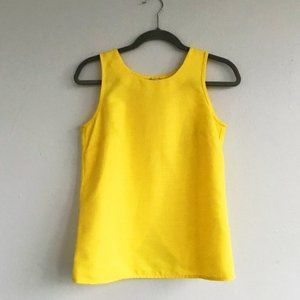 J. Crew Cross Back Yellow Tank Top (2)